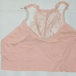 NEW PINK ADJUSTABLE WITH LACE BACK BRA